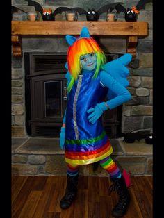 Home made Rainbow Dash Equestria Girls costume!