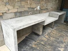 100mm thick outdoor BBQ bench with waterfall legs all done and polished for @kings_landscaping__geelong #concrete #insitu #grey #polishedconcrete #concreteconstruction #concretelife #realconcrete #concretedesign #waterfall #waurnponds #geelong