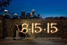"""We love using the sparkler to announce our date. Would it be possible to do this for 7.30.16? Also love the negative space that this shot would allow to write """"save the date."""""""