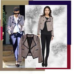 Kim K In The Freddie Jacket by Elizabeth and James, created by mellr on Polyvore