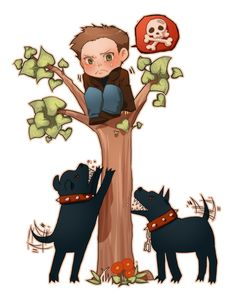 Tags: Anime, Dog, Hellhound, Hell, In A Tree, Supernatural, Dean Winchester