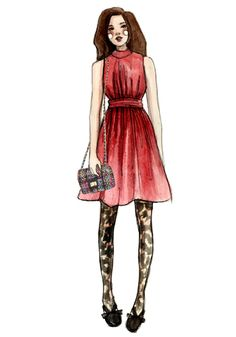 Fashion illustrations by @Katie Rodgers? Yus, please.