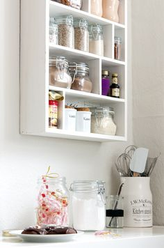 Organise all your baking supplies in one section of the kitchen to make the baking process quick and easy and all your supplies organised