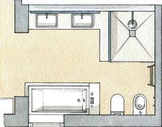 Calma y relax en un baño en el campo · ElMueble.com · Cocinas y baños