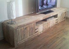 Zwevend Hangend Tv-meubel Steigerhout Steigerhouten Tv-kast te Koop Aangeboden op Tweedehands.net