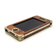 Exovault EXO15 Brass Hardwood iPhone Case
