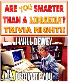 Tween Programming–Are You Smarter than a Librarian? Trivia Night – The Lego Librarian : Tween Programming–Are You Smarter than a Librarian? Trivia Night – The Lego Librarian School Library Lessons, School Library Displays, Library Lesson Plans, Middle School Libraries, Elementary School Library, Library Skills, Elementary Teaching, Elementary Schools, Library Games