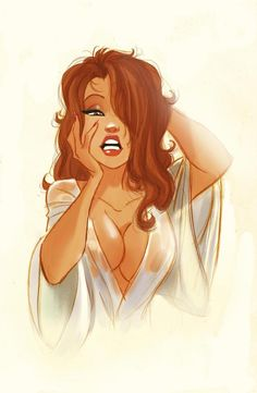 Sexy Girl illustration / Ragazza Sexy, illustrazione, disegno - by Pedro Perez