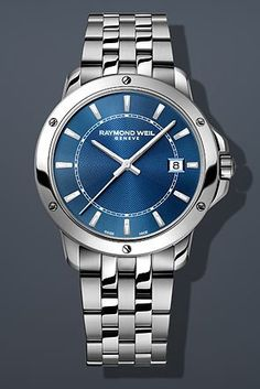 Men's Wrist Watches - Raymond Weil Tango Blue Dial Stainless Steel Mens Watch 5591ST50001 >>> Check out this great product.