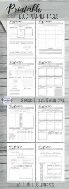 2017 Planner Printable 2017 Monthly Planner 2017 Weekly Planner 2017