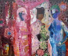 """Saatchi Art Artist Jacqueline van der Plaat; Painting, """"Showing myself"""" #art"""