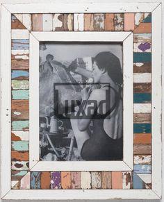 Vintage-Bilderrahmen mit Holzmosaik von Luna Designs aus Südafrika Designs, Vintage, Timber Frames, Recyle, Mosaic, Picture Frame, Ideas