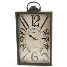Rectangular Wall Clock.  I think this would have been Edgar Allen Poe's clock if battery powered clocks had existed then.