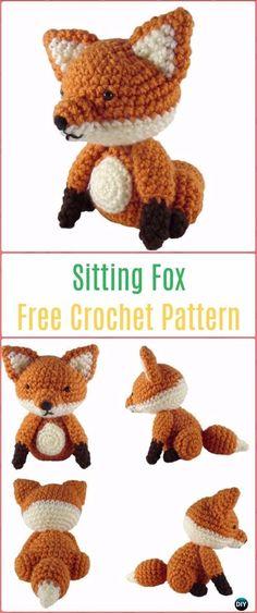 Amigurumi Crochet Sitting Fox Free Pattern - Crochet Amigurumi Fox Free Patterns