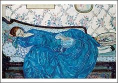 The Blue Gown (notecard), by Frederick Carl Frieseke, 1917. Published with the Detroit Institute of Arts.