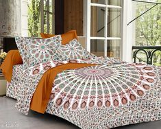 Checkout this latest Bedsheets Product Name: *Comfy Cotton Double Bedsheet with 2 Pillow Covers* Fabric: Bedsheet - Cotton Pillow Covers - Cotton Dimension: ( L X W ) - Bedsheet - 84 in x 94 in Pillow Cover - 17.5 in x 27.5 in Description: It Has 1 Piece Of Double Bedsheets With 2 Pillow Covers Work: Printed Thread Count: 160 Country of Origin: India Easy Returns Available In Case Of Any Issue   Catalog Rating: ★4 (438)  Catalog Name: Jaipuri Mandala Printed Double Bedsheets Vol 2 CatalogID_45795 C53-SC1101 Code: 024-422575-189
