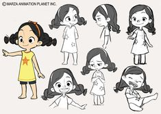 Gurihiru — Here are some of the early character concept. Kid Character, Female Character Design, Character Design Animation, Character Design References, Character Drawing, Character Design Inspiration, Character Illustration, Character Concept, Concept Art
