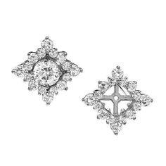 Diamond earring jackets make Your Diamonds more Dazzling Pictures Diamond Gemstone, Diamond Studs, Diamond Jewelry, Gold Jewelry, Pearl Diamond, Antique Jewellery, Jewelry Box, Jewelry Rings, Jewlery