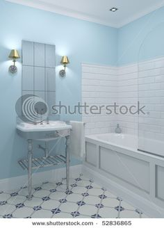 i like the tile; and the sconces
