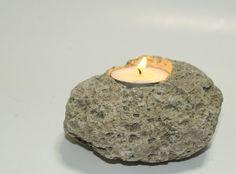 Tea Light Pumice Candle Holder, Coastal Cottage, Beach Wedding Decor, Natural Ocean Table Decoration on Etsy, $15.00