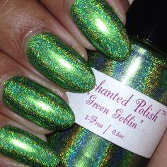 IG@varnished247 Enchanted Polish green goblin
