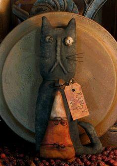 Halloween Stumpy Cat PATTERN, by Threadbare Primitives