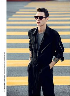 Supermodel Josh Beech stars in 9:50am West Hollywood story captured by fashion photographer Doug Inglish for the latest edition of GQ France. In charge of styling was James Sleaford.