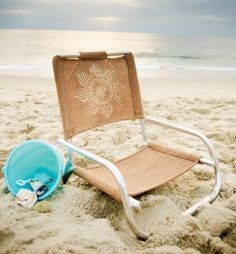 "Hand knitting pattern for beach chair. I need to do this! Pattern in ""Knitting In The Sun"" by Kristi Porter."