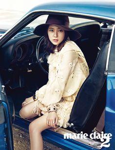 Korean Actress Baek Jin Hee Marie Claire Magazine October 2015 Photoshoot Fashion