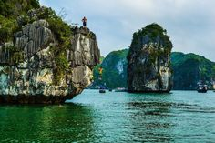 Cliff Jumping at Ha Long Bay, Vietnam | 15 Places to Visit in Vietnam