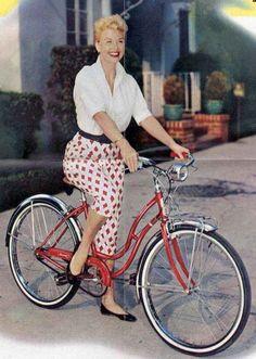 Vintage Schwinn Bike Ad with DORIS DAY !