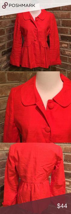 J. Crew Orange (perfect for Clemson fans) Blazer EUC. J. Crew Jackets & Coats Blazers