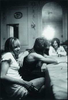 Anita Pallenberg, Keith Richards and Mick Jagger by Dominique Tarlé - Villa Nellcôte (France) - Recording Exile 1971
