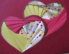 Iris Folding Templates, Iris Paper Folding, Iris Folding Pattern, Card Patterns, Flower Patterns, Valentine Crafts, Valentines, Christmas Crafts, Paper Folding Techniques