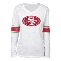 Juniors' San Francisco 49ers Team Leader Tee, Women's, Size: Medium, White