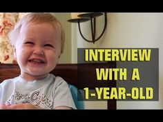 Interview with a 1-year-old - Click image to find more hot Pinterest videos