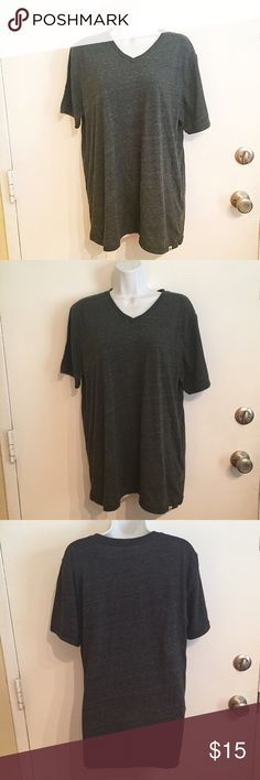 """Lucky Brand """"Weekender"""" Tee Lucky Brand """"weekender"""" grey v Neck Tee. Is men's but could be worn oversized as women's as well. Size large. #luckybrand #luckyyou #grey #gray #weekender #vneck #tee #mens #unisex #casual #large #punkydoodle  No modeling Smoke free home I do discount bundles Lucky Brand Shirts Tees - Short Sleeve"""