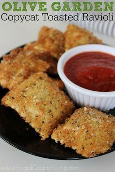 Copycat Recipe! Copycat Olive Garden Toasted Ravioli Recipe – So Delicious!