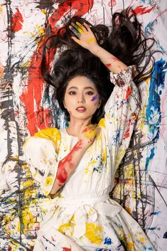 Portrait of Christine Zhiyi a young Chinese emerging artist from Singapore
