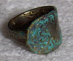 Turquoise SPOON ring by the RocketWorkshop