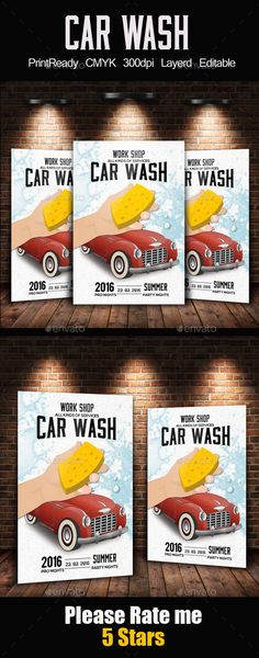 Car Wash Flyer Car wash, Font logo and Flyer template - car flyer template