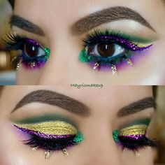 "363 Likes, 25 Comments - ✨MAYRA✨ (@mayrismakeup) on Instagram: ""Happy Mardi Gras!  Thank you for the love on this look! I will post the whole look later in the…"""