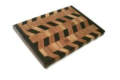 "End Grain Cutting Board - Hardwood Maple And Walnut Diagonal Pattern 15"" X 10.5""…"