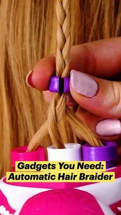 Amazing Life Hacks, Useful Life Hacks, 5 Minute Crafts Videos, Craft Videos, Diy Beauty, Beauty Hacks, Hair Braider, Diy Crafts To Do, Everyday Hacks