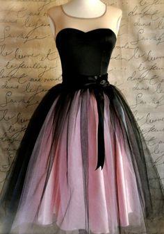 Pink Plain Grenadine Knee Length Sweet Nylon Skirt