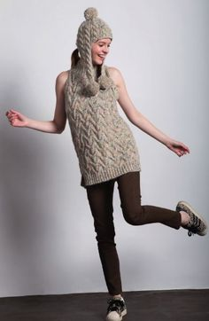 Viola Sleeveless Cabled Sweater Our Viola Sleeveless Cabled Sweater is designed with our new Halifax yarn, giving this simple design an extra kick.  For our A/W 16/17 collection, we took the leading sweater trend, the sleeveless tunic, and merged it with the time-honored cable knit pattern, creating a piece that is sure to stay in fashion throughout many following seasons. Click here to read the full post: http://www.filaturadicrosa.com/Main/default/BlogDetail.aspx?id=11 #filaturadicrosa