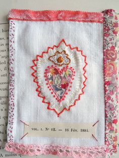 Sacred heart embroidery embroidered heart milagro by giovabrusa