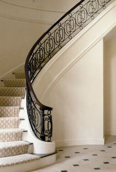 The Enchanted Home: It's all in the details.......floors, marble slabs and iron stair rails