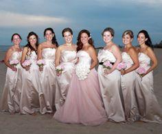 Family and Beach wedding Vera Wang VW351112 blush wedding dress ...