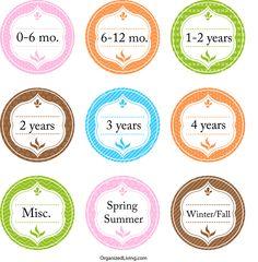 Free Printable Children S Clothing Size Labels Darling Doodles